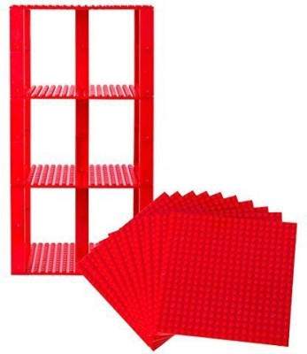 Strictly Briks Premium Red Stackable Base Plates 10 Pack 6