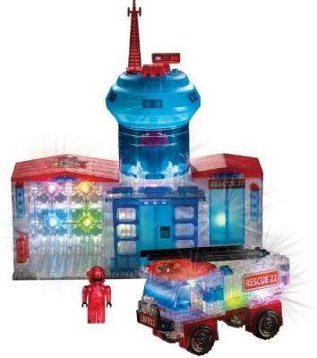 Lite Brix Crazart Fire Station And Truck