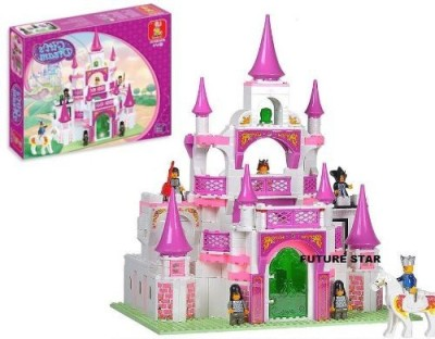 Kids Authority Iplay Fairy Princess Pink Castle Build It Yourself