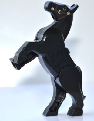 Lego Black Rearing Horse Horse Only