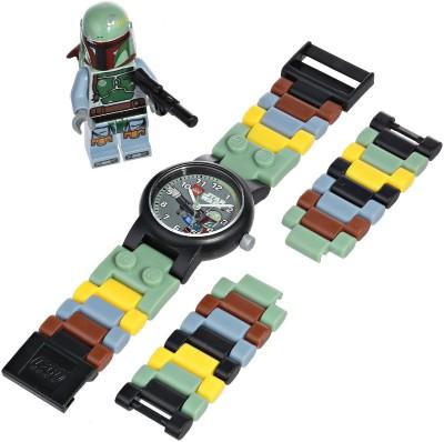 Lego Boba Fett Watch with Link Bracelet and Figurine
