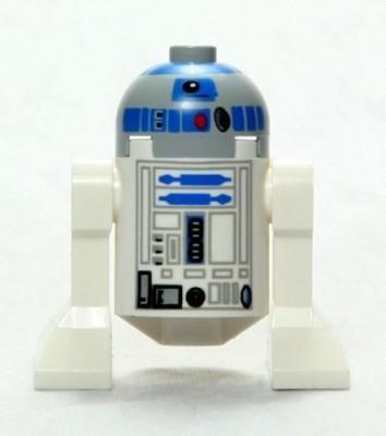 Star Wars Lego Mini R2D2 Droid Classic Version With Grey Head (2008)