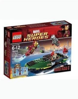 WE-R-KIDS Play Lego Super Heroes Iron Man Extremis Sea Port Battle