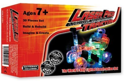 Laser Pegs Light Up Building Construction Set Tractor (29 Lighted