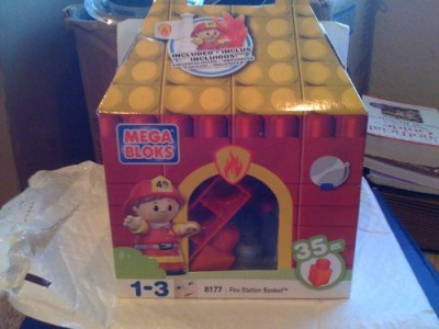 Mega Brands Mega Bloks Fire Station Basket 35 Pieces