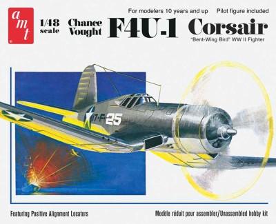 AMT USA 1/48 Scale Chance Vought F4U1 Corsair Plastic Model Kit