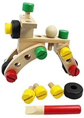 MasterPro Wooden Construction Set Nut Buildingcar