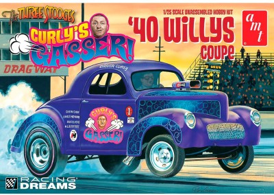 AMT USA 1/25 Scale ,40 Curly,s Gasser WIllys Coupe Plastic Model Kit