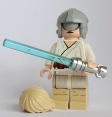 Star Wars Lego Mini Luke Skywalker With Grey Visor On Head Helmet