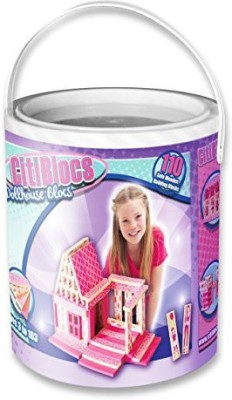 Citi Blocs 110-Piece Pretty in Pink Doll House Set