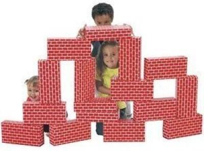 ImagiBricks Smart Monkey Set of 36 Red Giant Image Briks Blocks