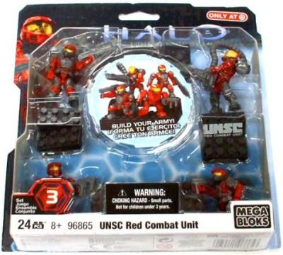 Mega Brands Halo Wars Mega Bloks Set 3 Unsc Red Combat Unit Contains