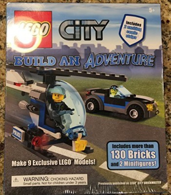 Lego City Build An Adventure Set Book + 130 Bricks & 2 Minis New