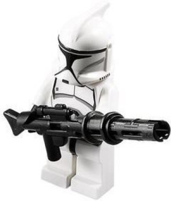 Star Wars Lego Clone Trooper With Long Blaster