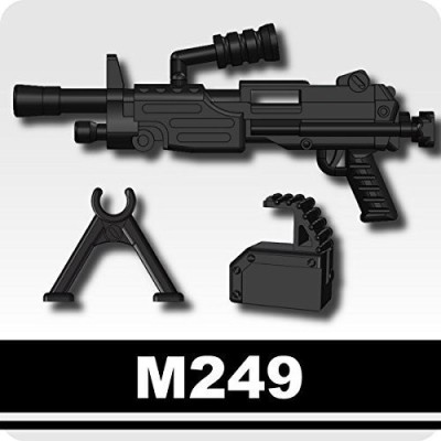 Si-Dan Toys M249 Light Machine Gun (Black) Lego Compatible Mini Piece
