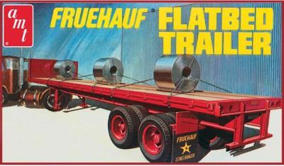 AMT USA 1/25 Scale Fruehauf Flatbed Trailer Plastic Model Kit