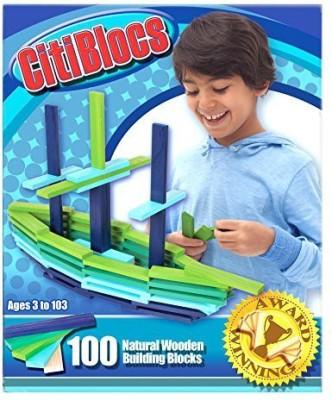 Citi Blocs 100-Piece Cool-Colored Building Blocks