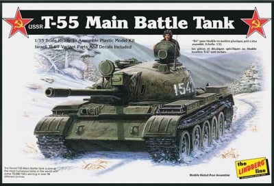 Lindberg USA 1/35 Scale USSR T-55 Battle Tank Plastic Model Kit(Multicolor)