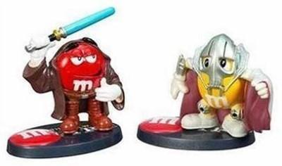 Hasbro Star Wars Chocolate Mpire Obiwan Kenobi & General Grievous