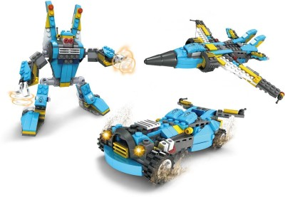 Funblox FunBlox 3 in 1 Robot, Aircraft or Racing car