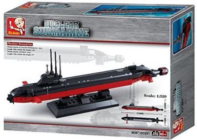 ToyCentre Sluban Army Navy Nuclear Submarine Ship B0391