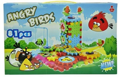Basetronix Angry Bird Battery Operated Blocks 81 Pcs