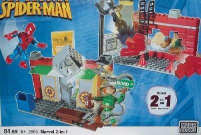 Mega Bloks 2096 Spiderman Marvel 2 In 1 Set Doc Ock & Sandman