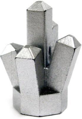 Power Miners Lego Mini Accessory 1X1 Silverchrome 5 Point Crystal Rock