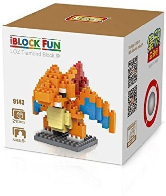GRHOSE LOZ Diamond Blocks Nanoblock Pokemon Charizard Educational Toy 210pcs