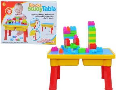 Building Mart Children's Multi-Fun Block Building + Study Table