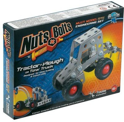 Nuts & Bolts Series 1Tractor And Plowtow Truck(White)