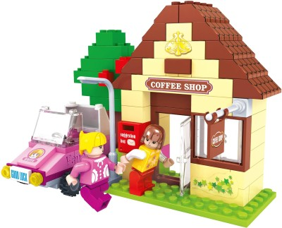 Funblox 123pcs Fairy Land Blocks-Coffee Shop