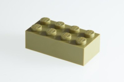 Factory Fresh Bulk Bricks 200X Lego Olive Green 2X4 Bricks Super Pack