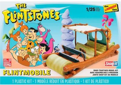 Lindberg 1 1/25 Scale Flinstones Car Plastic Model Kit