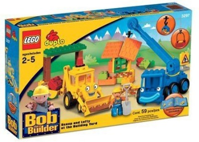 Lego Duplo Bob The Builder Scoop And Lofty At The Building Yard