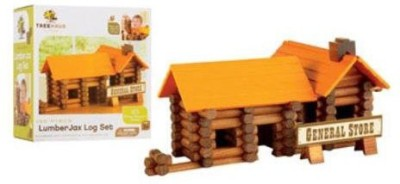 Merchsource 1647838 Treehaus Lumberjax Wood Log Set165 Pieces