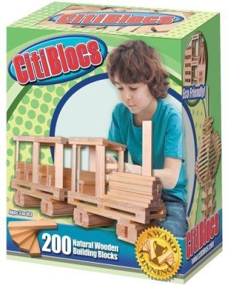 Citi Blocs 200-Piece Natural-Colored Building Blocks