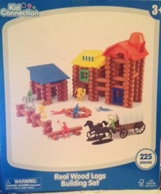 Kid Connection Real Wood Logs Building Set