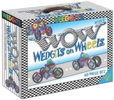 ImagAbility Wedgits On Wheels (Wow) 60 Piece Set