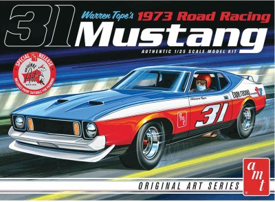 AMT USA 1/25 Scale Warren Tope's 1973 Road Racing Mustang Plastic Model Kit(Multicolor)