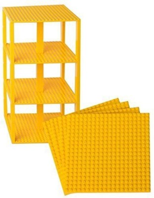 Strictly Briks Premium Yellow Stackable Base Plates 10 Pack 6