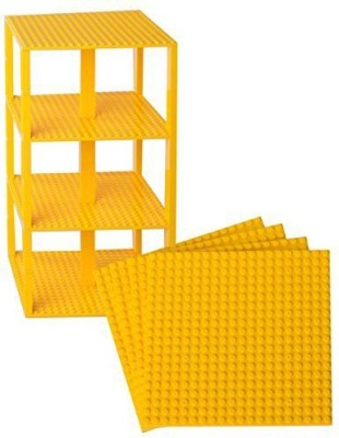 Strictly Briks Premium Yellow Stackable Base Plates 4 Pack 6