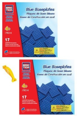 BRICTEK 2 Sets Of 19014 Blue Baseplates Building(Compatible