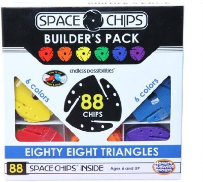Monkey Business Sports Space Chips Builder Pack Triangles (88 Pieces)