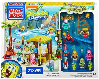 Mega Brands Mega Bloks Spongebob Beach Resort Pack
