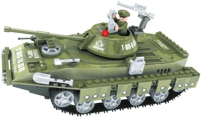 Funblox Army Guard War Bolcks (Tank. Soldier)(Multicolor)22502