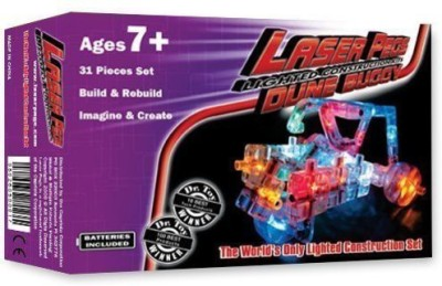 Laser Pegs Light Up Building Construction Set Dune Buggy Set