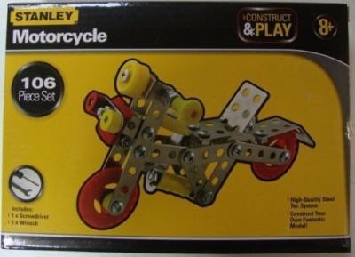Sambro International Limited Stanley Construct & Play Motorcycle 106 Piece Set