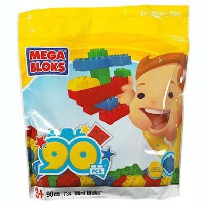 Mega Bloks 90-Piece Mega Blocks Bag