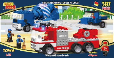 Winning Moves Extra Large Box 398 pieces Town Trucks Block Set - Best Lock